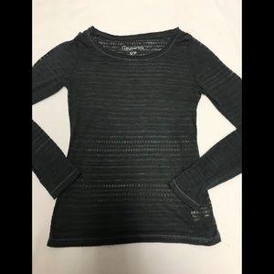 Aeropostale women's small long sleeve sheer shirt